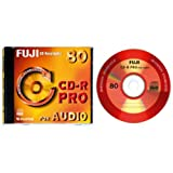 Fuji CD-R Audio PRO CD-Rohlinge 80min 700 MB 10er Pack
