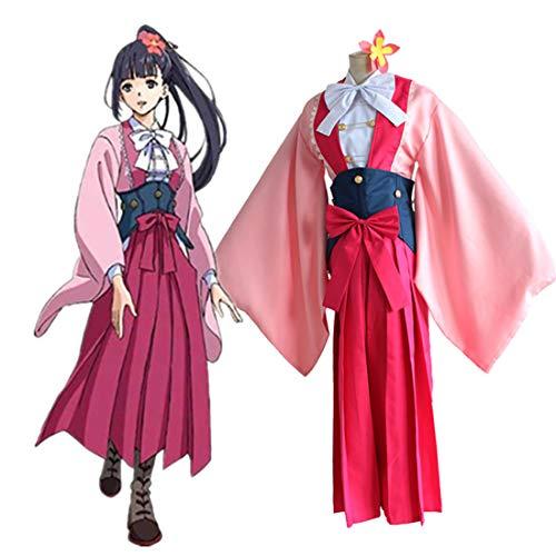 RL Anime Kabaneri der eisernen festung koutetsujou Keine Kabaneri Ayame Kimono uniform Cosplay Halloween Cartoon kostüm,Full Set-S