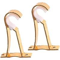 2 Piezas de Barra de Cortina Soportes Estilo Romano Rod Drapery Postes de aleación de Aluminio - Oro