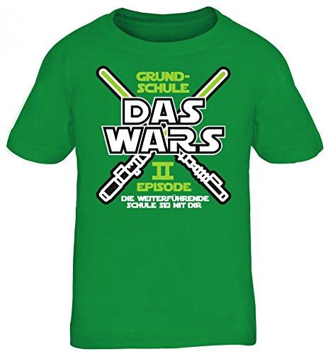 Einschulung 5. Klasse Kinder T-Shirt Laserschwert Grundschule Das Wars - Episode II, Größe: 152/164,Kelly Green (Star Jungen, 6 Shirt Größe Für Wars)