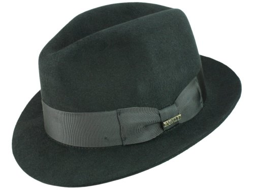 Bigalli Homme Chapeau Fedora Milano noir