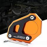 Motorrad Seitenständer Unterstützung Vergrößern Fuß-Verbreiterung Ständer Platte Teller Pad CNC-gefrästem Aluminium für KTM 1050 1090 1190 1290 Adventure Adv