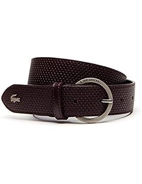 Lacoste Women's Chantaco Women's Burgundy Leather Belt 100% Leather
