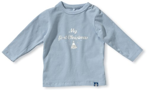 NAME IT Unisex - Baby Sweatshirt 13079809 - ULIK NB LS TOP 512, Gr. 62, Blau (CASHMERE BLUE)