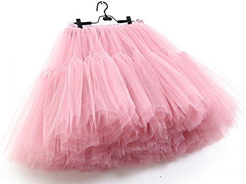 Balletto SCFL adulti Tutu stratificati Organza Mini delle donne gonna di pizzo principessa Petticoat per il partito di Prom Rubberpowder