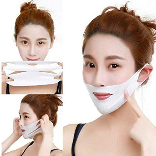 Gesichtsstraffende Maske Gesicht Abnehmen Wangenmaske 4D Doppel V Gesicht Hängen Ohr Hydrogel Maske Reparatur Hautelastizität Straffende Haut Kinn Lift Up Anti-Falten-Maske Packung Mit 5 Stück -