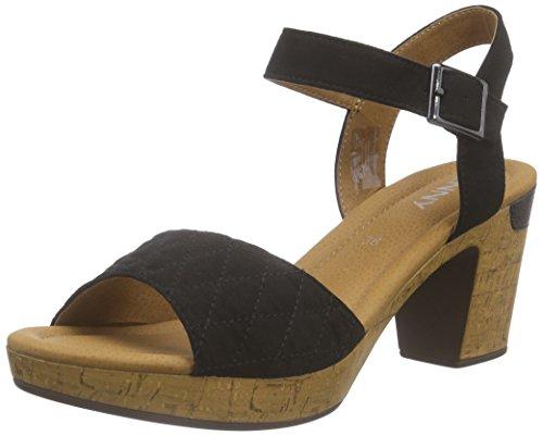 Jenny - Riccione, Scarpe col tacco con cinturino a T Donna Nero (Nero (schwarz 07))