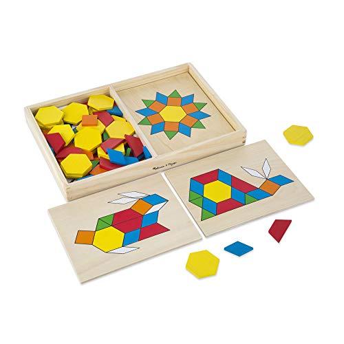 Melissa & Doug Geometrische Formen und Vorlagenbrettchen aus Holz (120 Teile) (Und Doug Spielzeug Melissa)