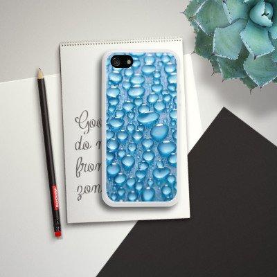 Apple iPhone 5s Housse Étui Protection Coque Rosée Eau Water Housse en silicone blanc