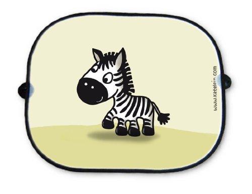 Auto Sonnenschutz - Zebra Motiv - Sonnenblende Schattenspender Baby Kinder Seitenscheibe Autositz