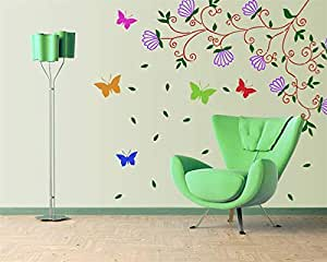 Gallerist Reusable DIY Big Size Wall Stencil for Painting: Royal Custom Big Flower Wall Design Stencil, 14 Stencils (Size 59x42 inches) | Free 1 Drawing Stencil for Kids
