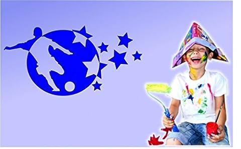 Stickerkoenig sticker mural pour chambre d'enfant motif football sTAR satiné
