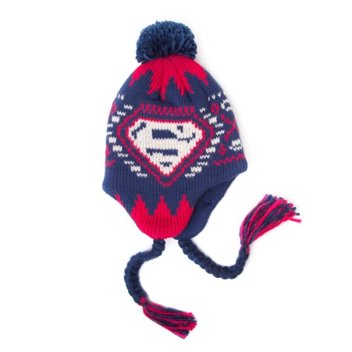 Superman - Logo Strickmütze Hut Hat Beanie Original & ()