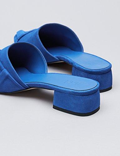 FIND - Beau - Mules à front pointu - Femme Bleu (Blue)