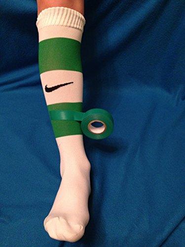(2x) grün Sport Sock Tape Fußball Rugby Hockey Schienbeinschoner Lifting