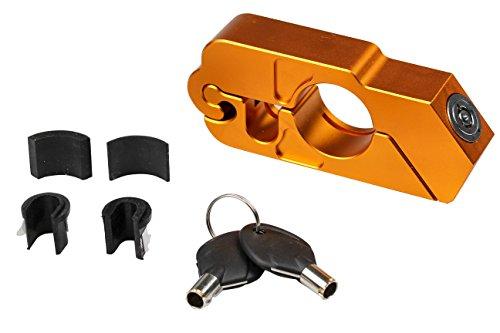 Universal Fahrrad Motorrad Lenkerschloss Bremshebel Schloss Lock Caps CNC Gold
