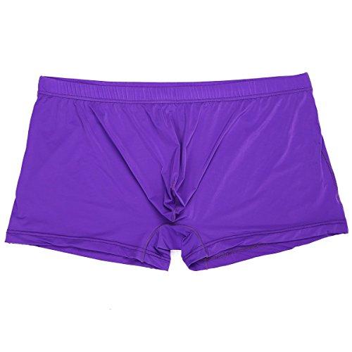 YiZYiF Herren Boxershorts Pant Stretch Unterwäsche Unterhosen Seamless  Hipster Sport Slips Retroshorts MXXL Lila
