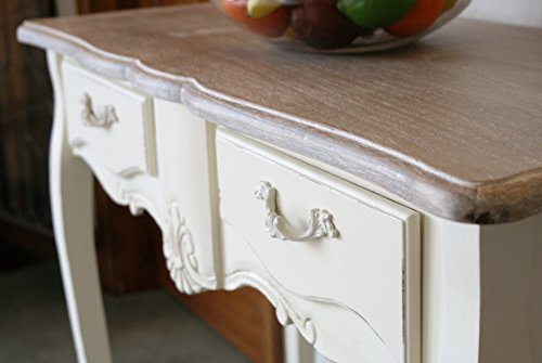 Beautiful Casamore Devon 2 Drawer Console Table in a French Inspired Shabby Chic Look - FREE DELIVERY