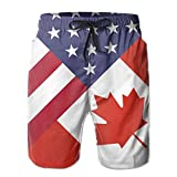 Photo de Men's Board Shorts America Canada Flag Swimming Trunks Sport Pants par Daibing