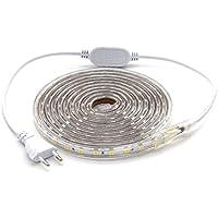 ALOTOA Tiras LED, 3M 60LEDs/M SMD 5050 Blanco frío 6000K, 230V IP68 Tiras de Led Iluminación impermeable para el hogar, Decoración del jardín Iluminación de la tira de la luz …