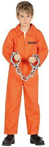 Fancy Me Mädchen Jungen Gefangener Häftling orange Death Reihen Halloween Horror unheimlich TV Buch Film Kostüm Kleid Outfit 3-12 Jahre - 10-12 Years