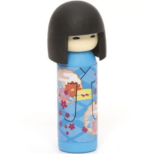 Goma de borrar, muñeca japonesa Kokeshi, flores, Japón