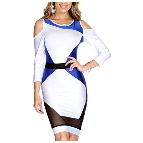 Waooh - Abendkleid Tricolor Gual Weiß