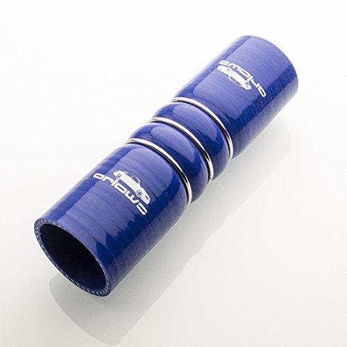 70mm diametro connettore tubo in silicone rinforzato perlina filo (160mm di lunghezza, blu)