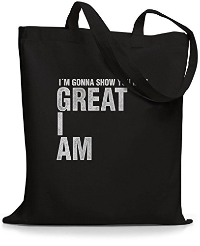 StyloBags Jutebeutel / Tasche I m gonna show you how great I am Schwarz