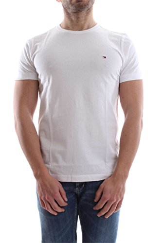 Tommy Hilfiger Flag C-Nk Tee S/S Rf, Camiseta para Hombre