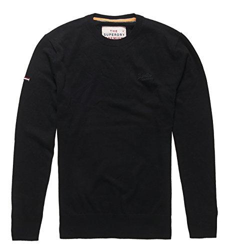 Superdry Herren Schlafanzugoberteile Orange Label Crew schwarz (Black02A)