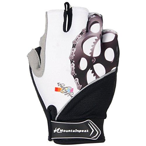 Qianliuk Radfahren Handschuhe Halb Finger Mens Sommer Fahrrad Handschuhe MTB Mountain Sport Bike Handschuhe Fäustlinge