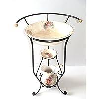 arterameferro Juego Baño Completo Lavabo de cerámica Toscana 3Piezas con Hierro Forjado - Muebles de Dormitorio precios