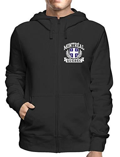 Montreal Zip (Sweatshirt Hoodie Zip Schwarz DEC0499 Montreal Quebec)