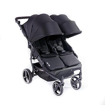 NUEVA Silla Gemelar Easy Twin 3.0.S con capota reversible de paseo Baby Monsters - Color Negro + REGALO de dos mantas para silleta
