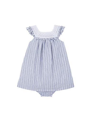 Gocco Vestido Encaje Vestido, Bebé-Niñas, Azul (Indigo Au), 74 (Tamaño del Fabricante:6/9)
