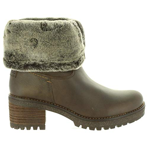 PANAMA JACK Damen Winterstiefel Piola,Frauen Winter-Boots,Fellboots,Fellstiefel,gefüttert,warm,wasserabweisend,Braun,EU 41