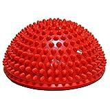 Queta 1 x Durian Ball Balance Training Fitness Kuppel Fußball Massage Ball Balance Bowl Sense Training Ball Yoga Ball Pilates Ball rot rot