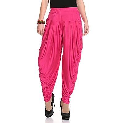 Legis Women's Viscose Dhoti Salwar Pants (DHOTI302, Magenta, Free Size)