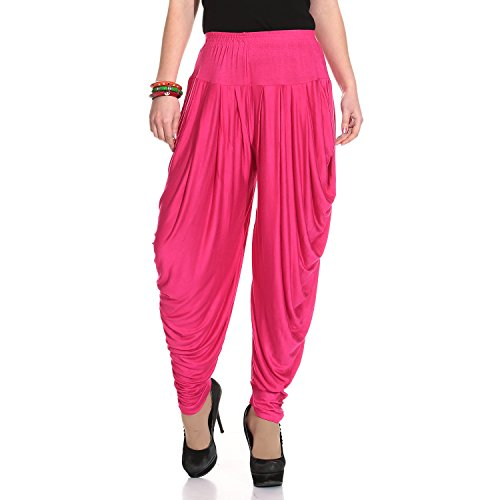 Legis Women's Viscose Dhoti Salwar (MAJ302DHT_Free Size_Majenta)