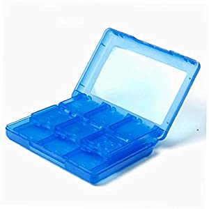 Romote 28 in 1 Spiel-Karten-Kasten-Halter-Cartridge Box für Nintendo 3DS Vedio Spiele (blau)