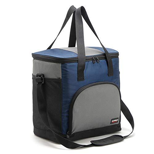 Huntforgold 25L Kühltasche Isoliertasche Kühlbox Picknicktasche für Camping Picknick Outdoor Reisen Strand Grillfeste (Outdoor-kühltasche Picknick Strand)