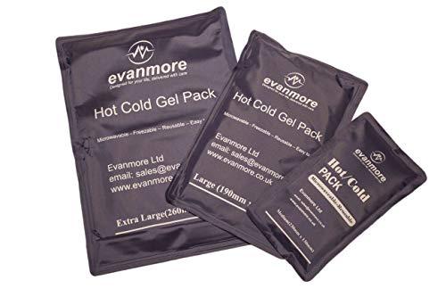 Gel-Packung für Wärmetherapie, wiederverwendbar, 3 Größen -