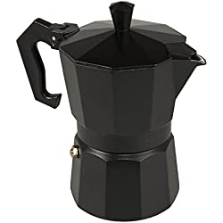 """Cafetera aluminio italiana """"black"""" 3 tazas negro"""