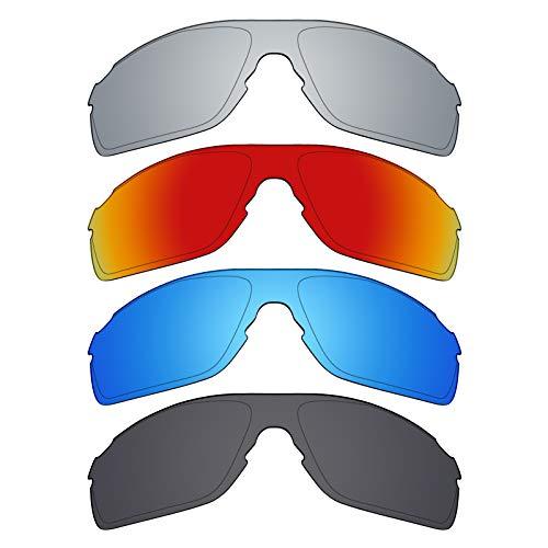 Mryok polarisierte Ersatzgläser für Oakley EVZero Pitch Asian Fit Sonnenbrille - Stealth Black/Fire Red/Ice Blue/Silver Titanium