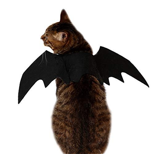 Saino Haustier Halloween Spielzeug Fledermaus Flügel Collar Lustige HundehalsbändeFestival Heimtierbedarf Geeignet für Katzen Puppy (Spielzeug Halloween Fledermäuse)