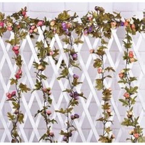 Nuovo Hight Quality Silk Flower 1 Bouquet fiori artificiali autunnali Daisy falso Foglia casa di cerimonia nuziale Tabella decorazione della festa bianco