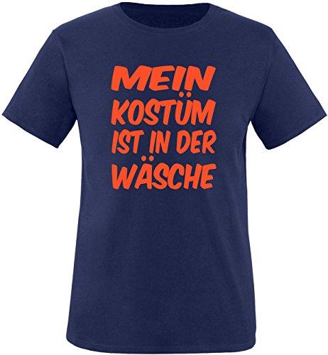 Luckja Mein Kostüm ist in der Wäsche Herren Rundhals T-Shirt Navy/Orange