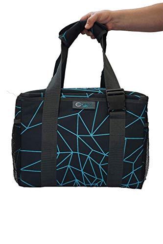 Portal Unisex– Erwachsene Aspen Active Passive Kühltasche 45x30x30 cm 36L Kühlbox Eistasche Thermotasche Picknicktasche Schwarz/Blau 36 Liter