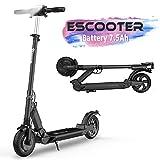 Scooter Patinete Eléctrico Plegable Ruedas de 8,5 pulgadas con Pantalla LCD 350W Máxima Velocidad 30KM/H (Black-YX)